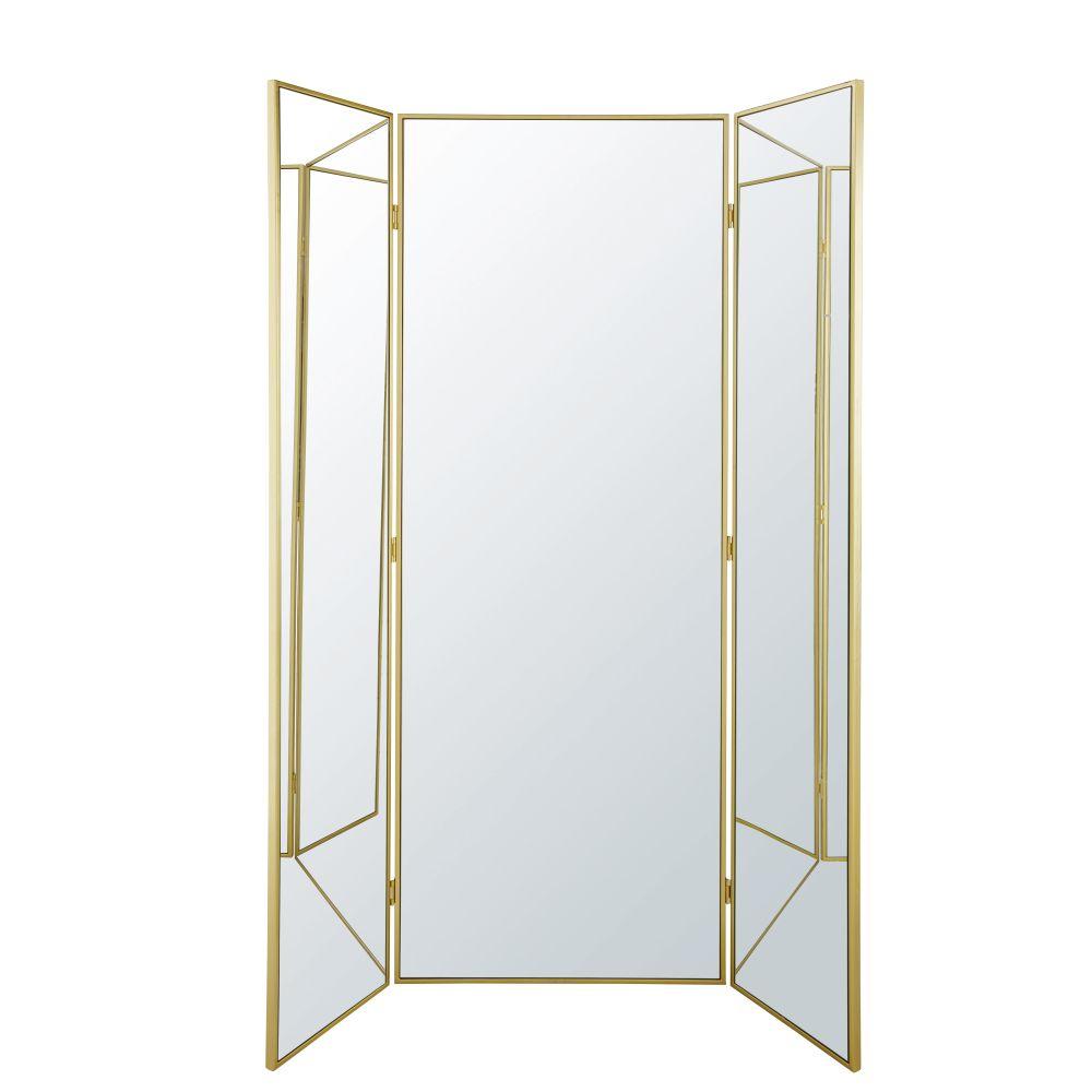 Spiegel Met Drieluik En Geslepen Randen 131 X 180 Cm