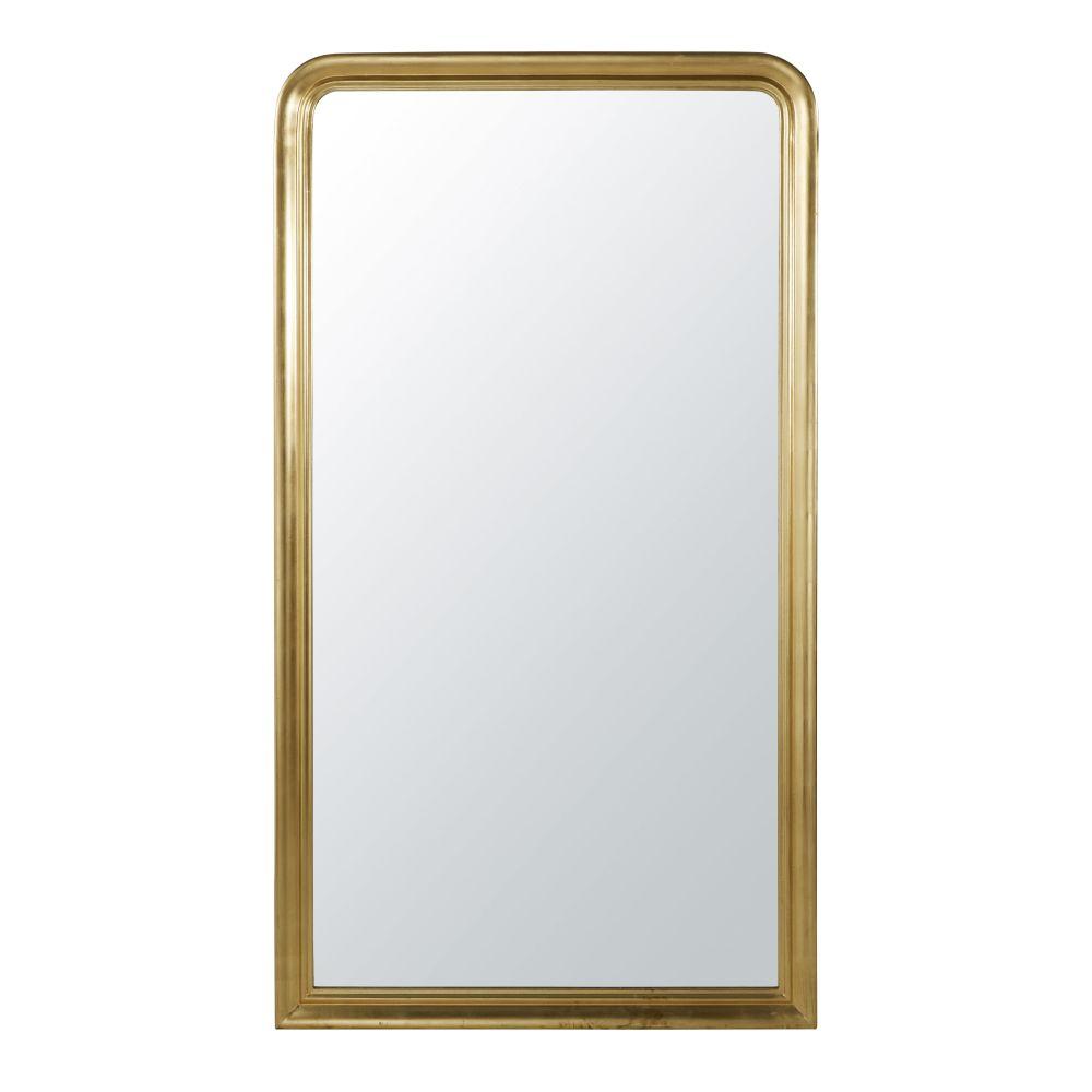 Spiegel Met Goudkleurige Sierlijst 100 X180 Cm
