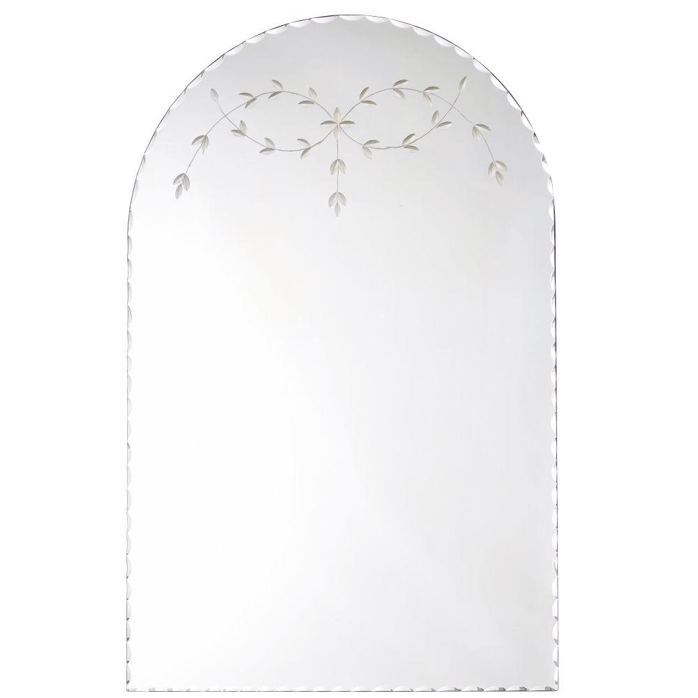 Spiegel Met Houtsnijwerk En Verweerd Effect 70 X 110 Cm