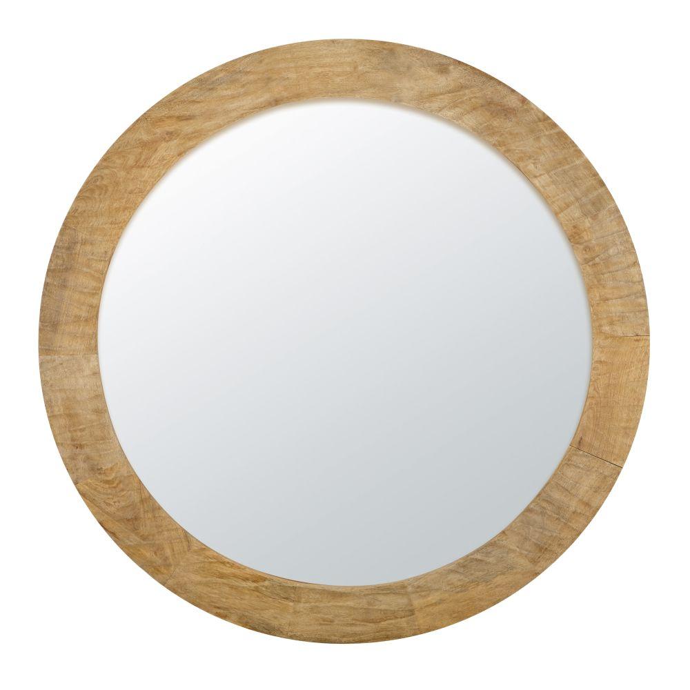 Spiegel Uit Snijwerk Van Mangohout D100
