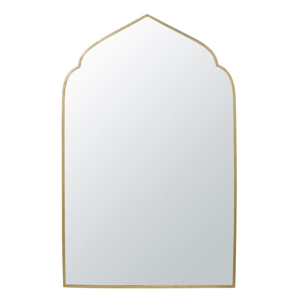 Spiegel Uit Verguld Metaal 76 X 120 Cm