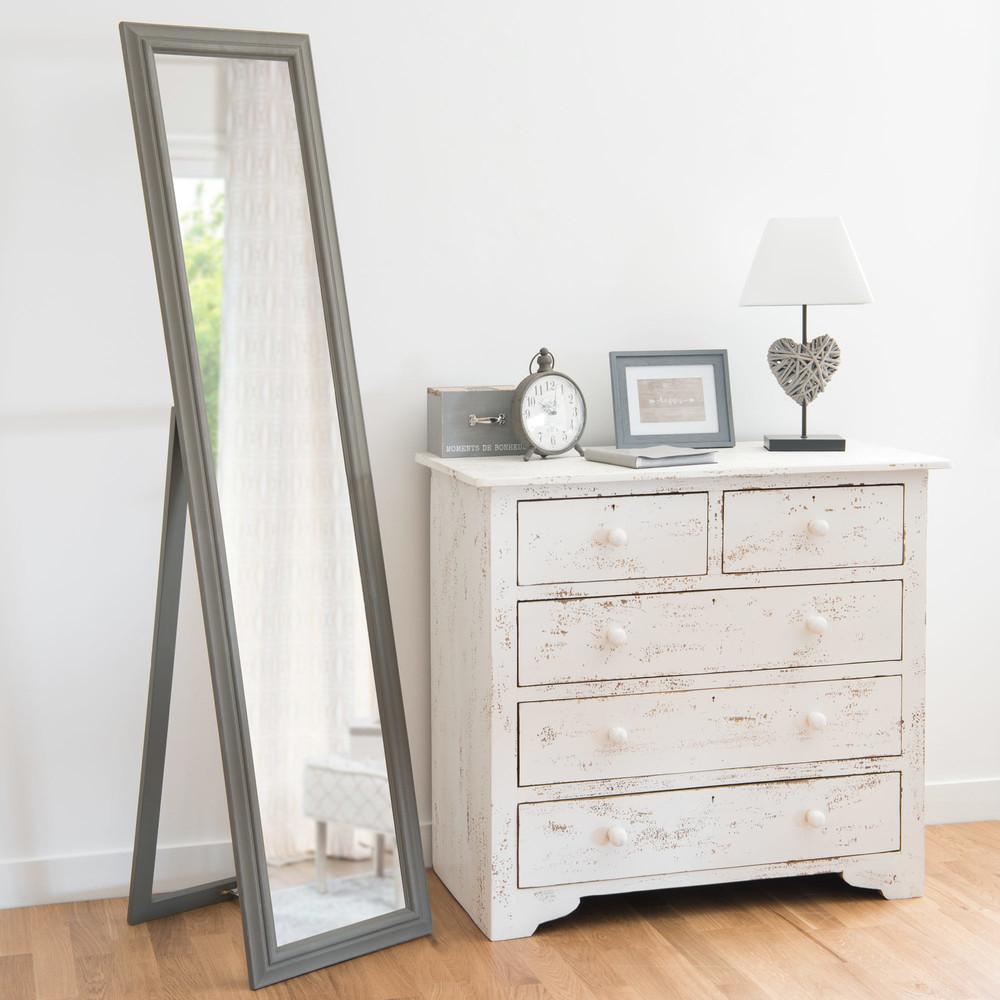 Standspiegel mit Rahmen aus Paulownienholz 40x168