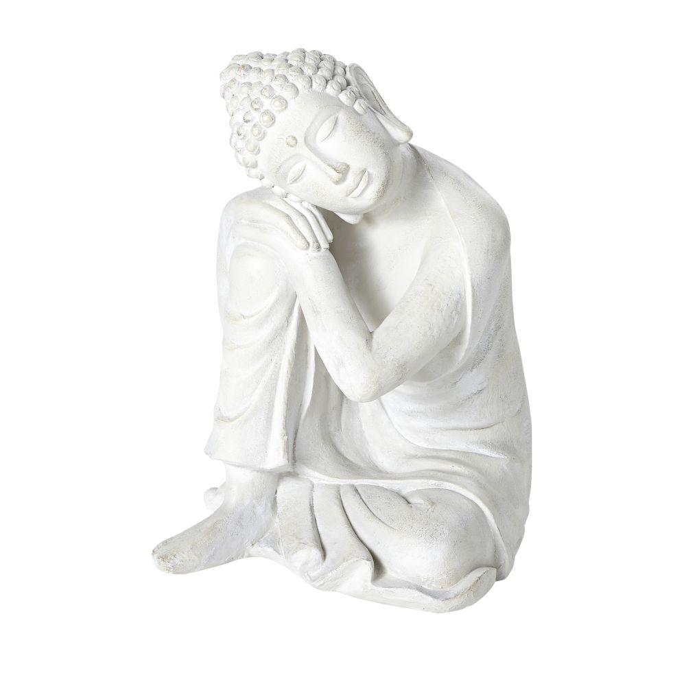 Statue bouddha écrue effet vieilli H60