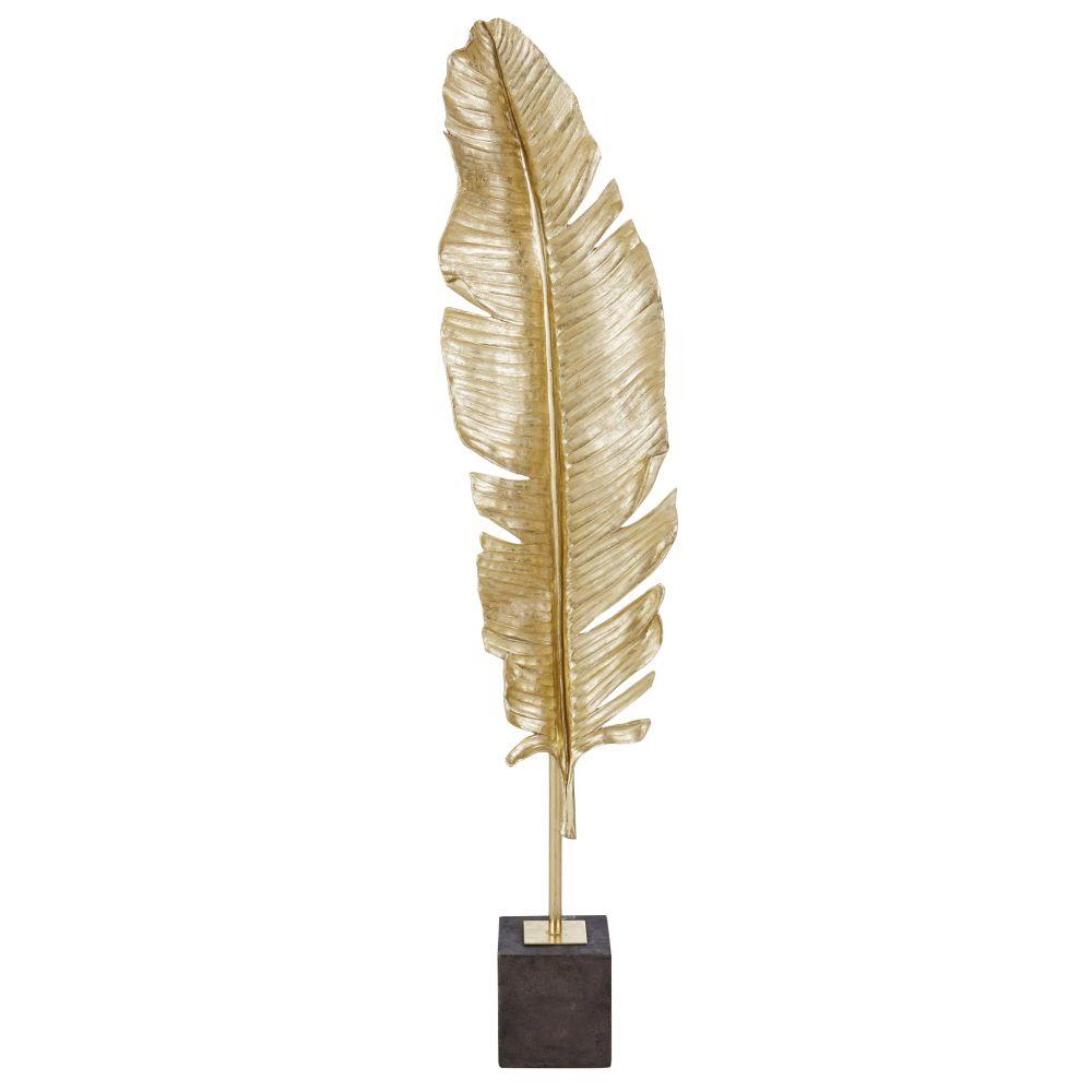 Statue de plume doré H155
