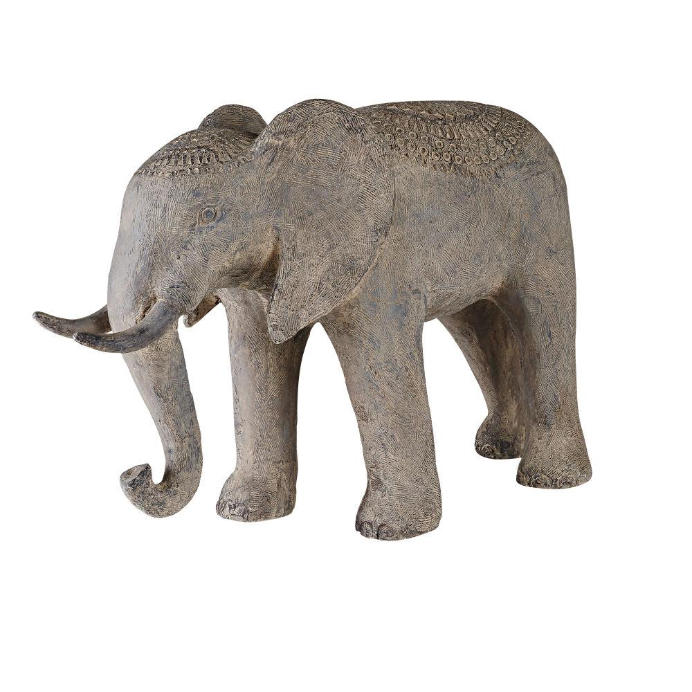 Statue éléphant grise H55