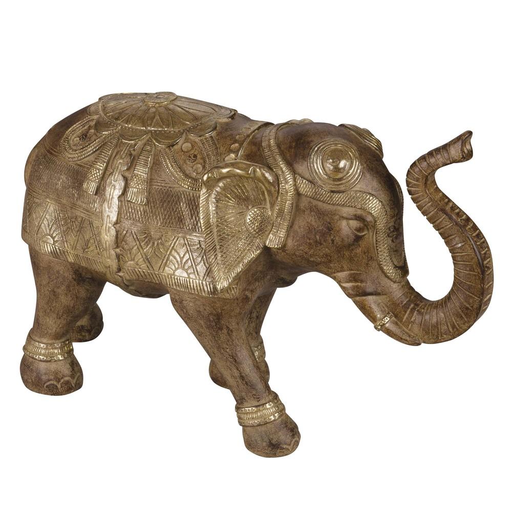 Statuette éléphant marron H23