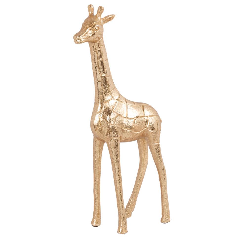 Statuette girafe dorée H34