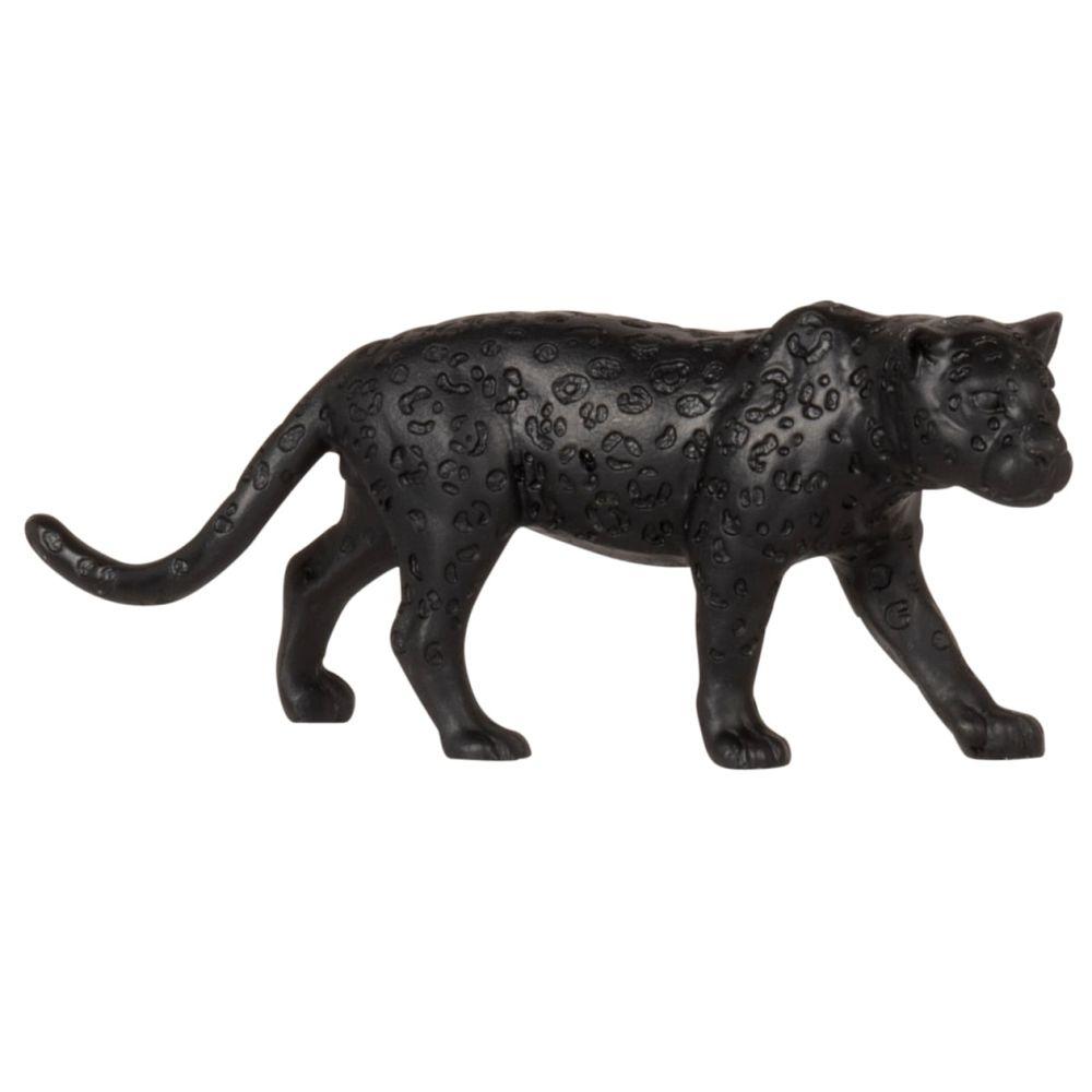 Statuette léopard noir H5
