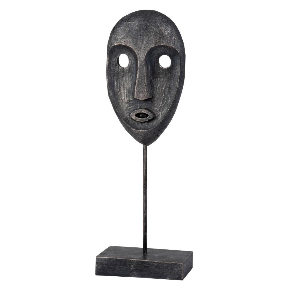 Statuette masque noir H40