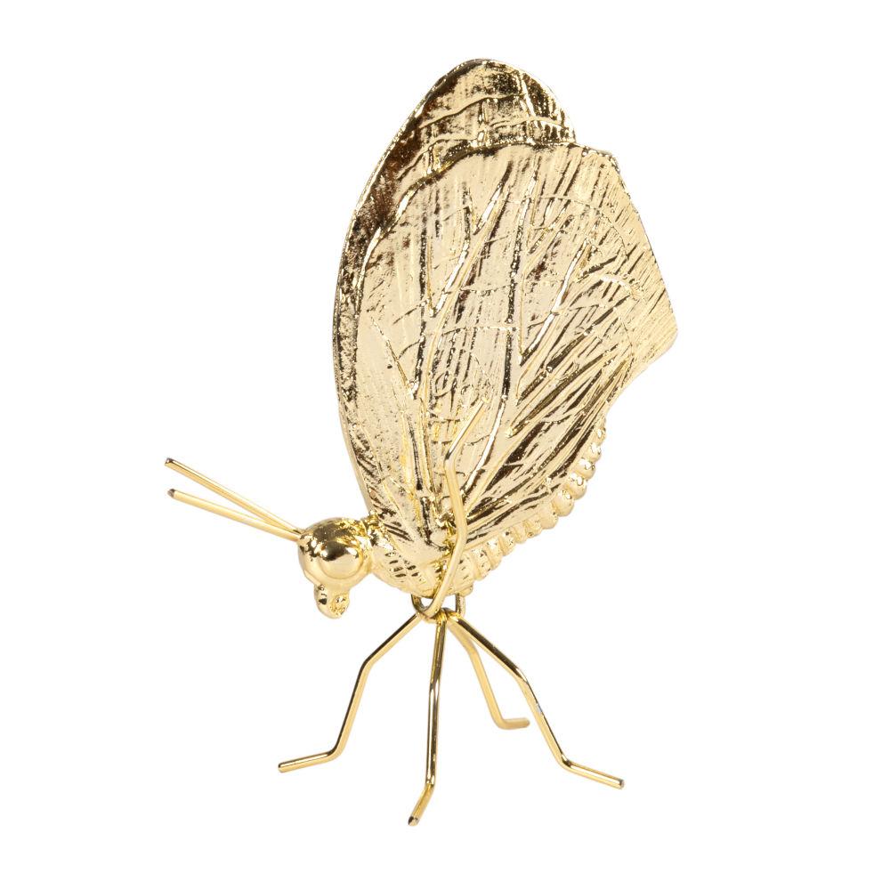 Statuette papillon dorée H17
