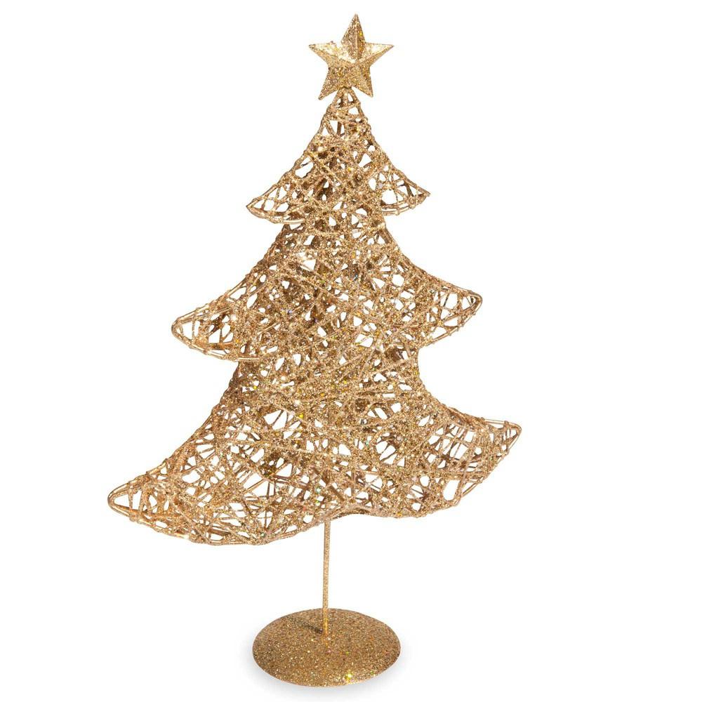 Statuette sapin de Noël doré H30