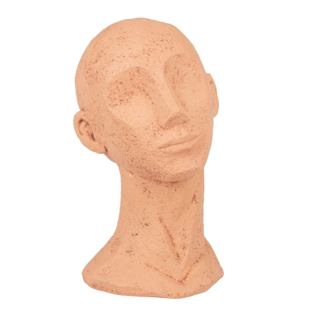 Statuette tête en terre cuite terracotta H30