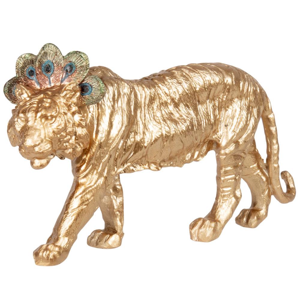 Statuette tigre doré H12