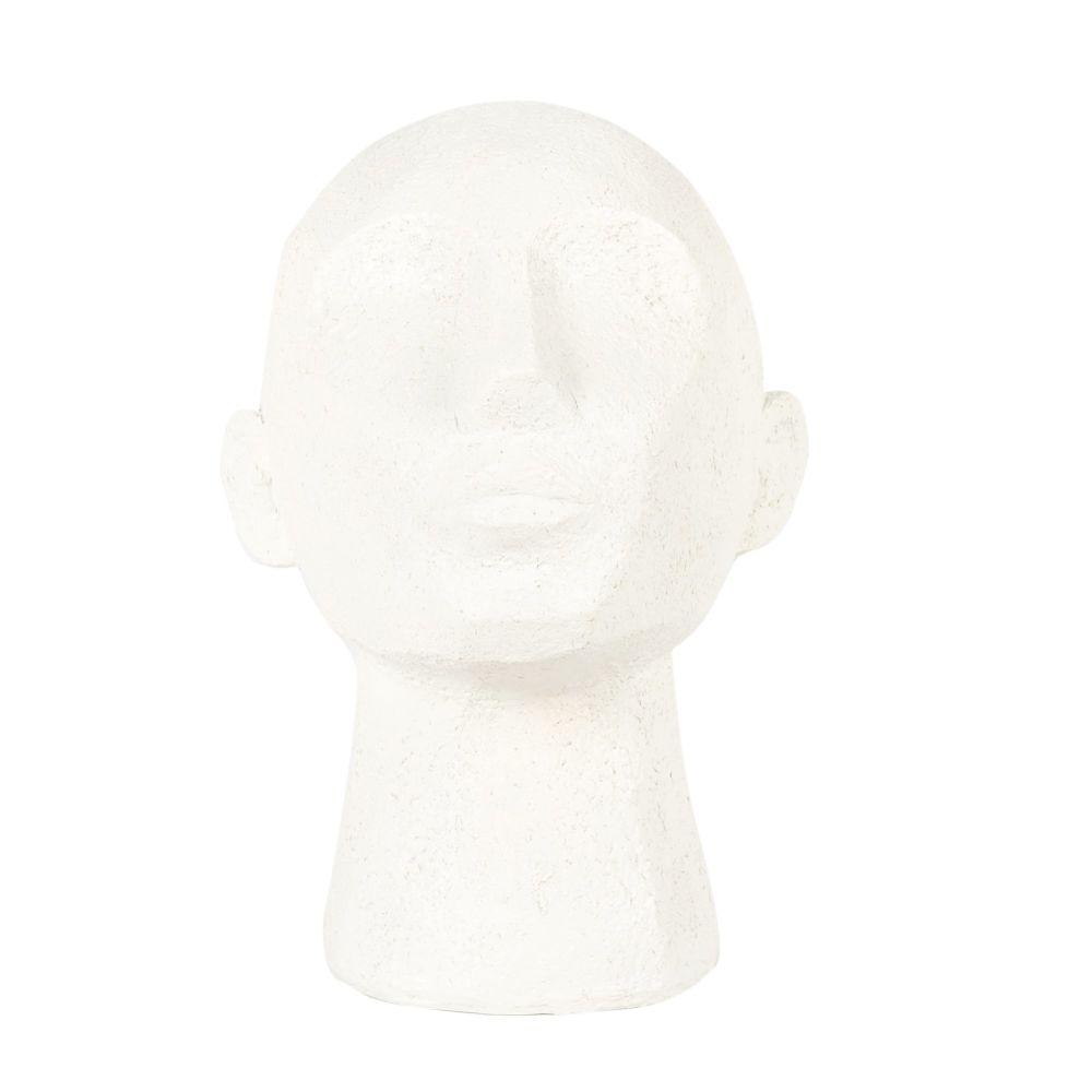 Statuette visage beige H23