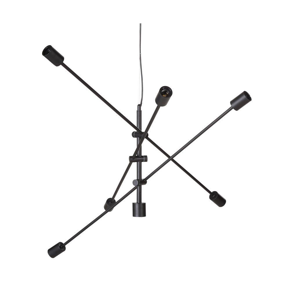 Suspension 3 bras en métal noir