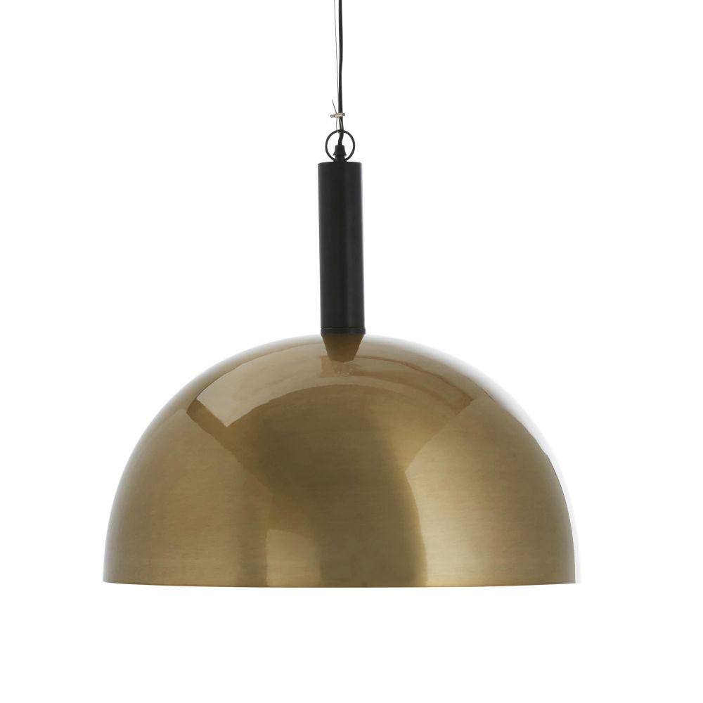 Suspension abat-jour en métal doré et noir