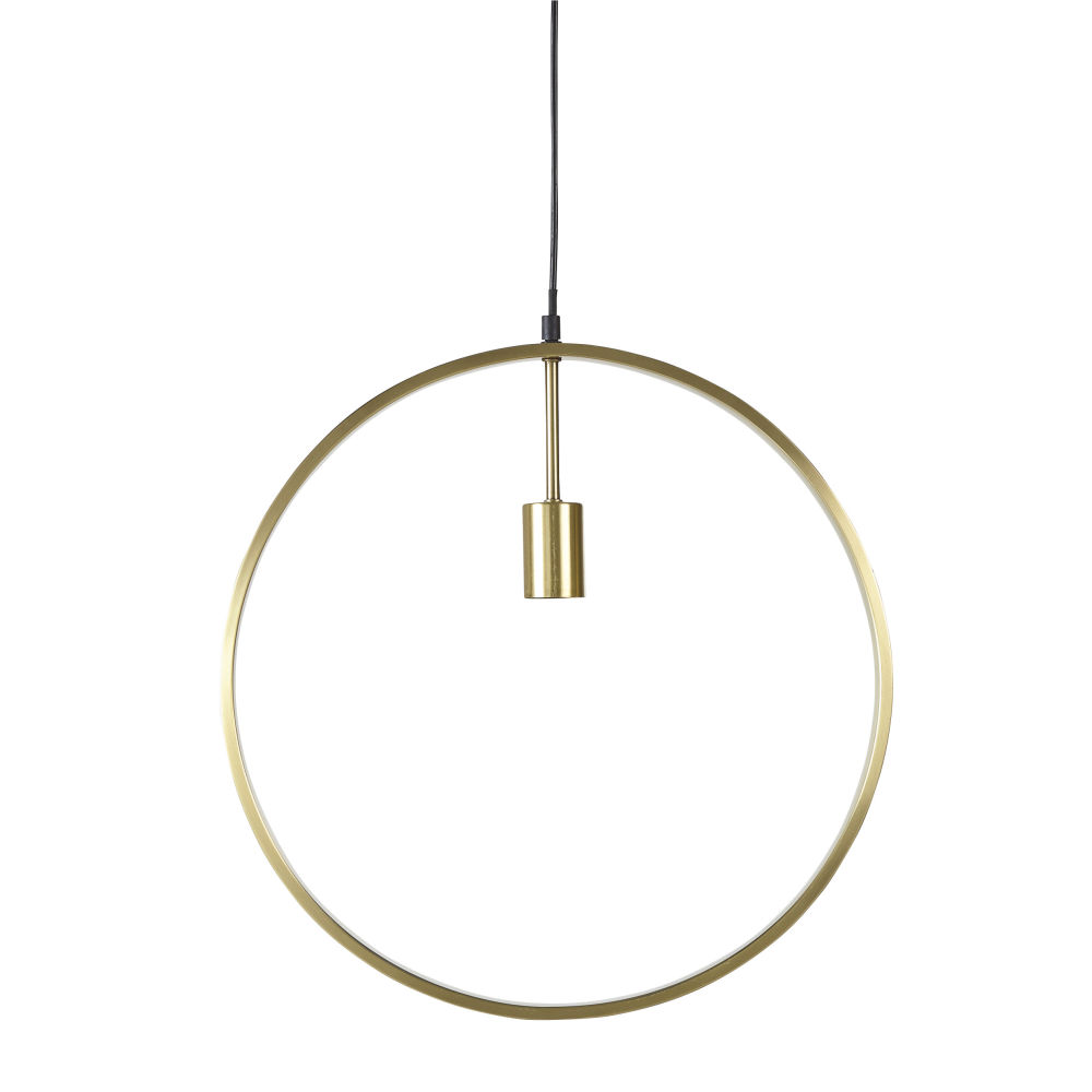 Suspension anneau en métal doré