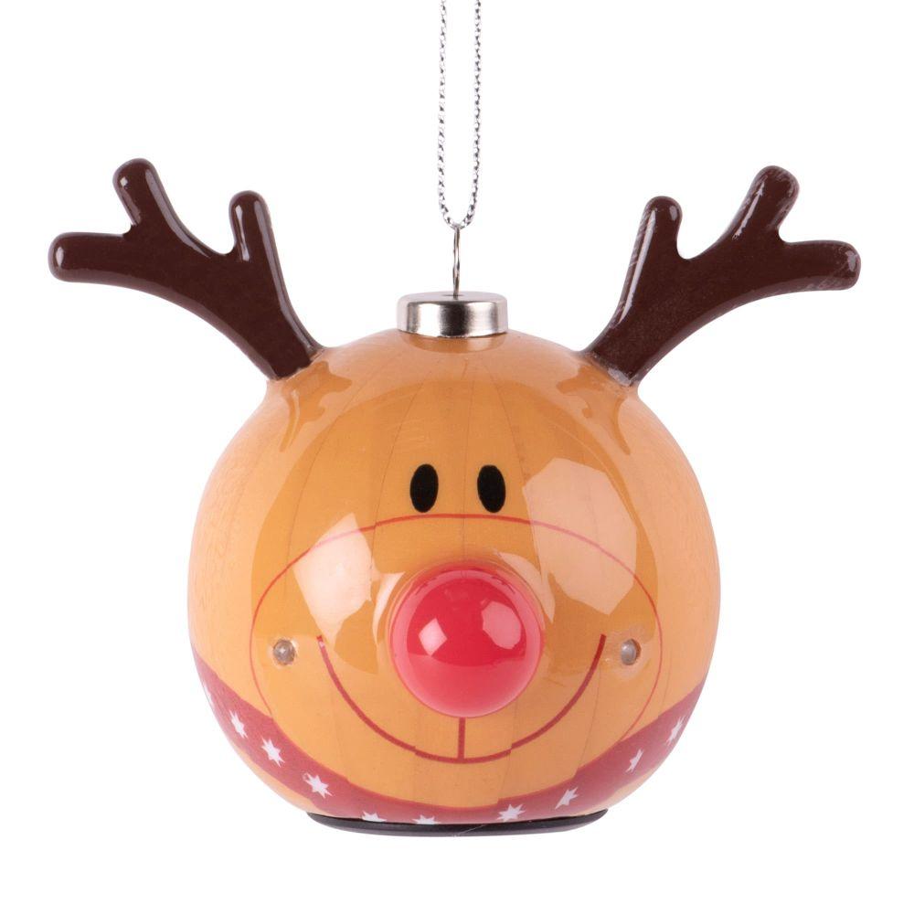 Suspension de Noël à LED tête de cerf en papier