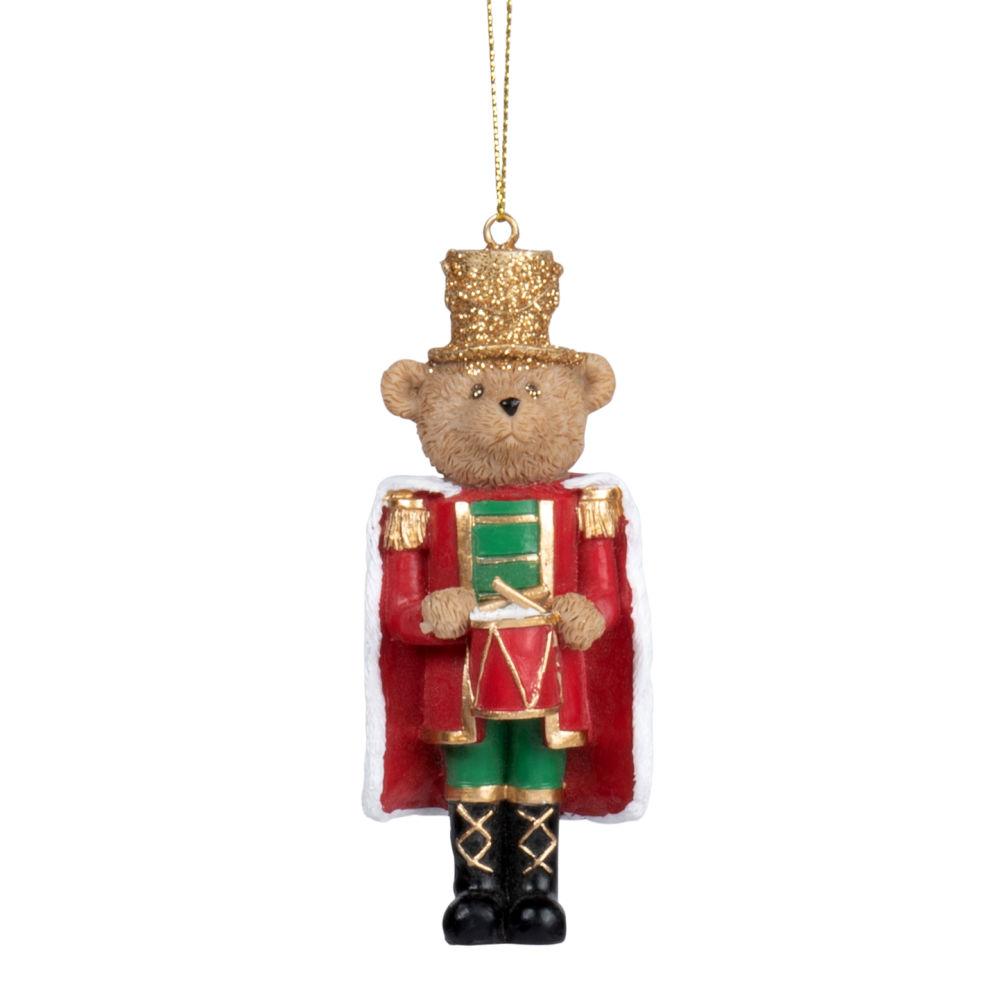Suspension de Noël casse noisette rouge, vert et doré