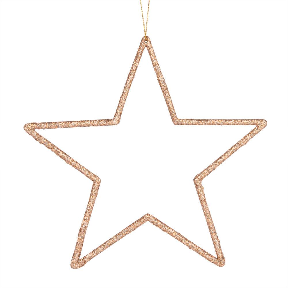 Suspension de Noël en métal marron brillant