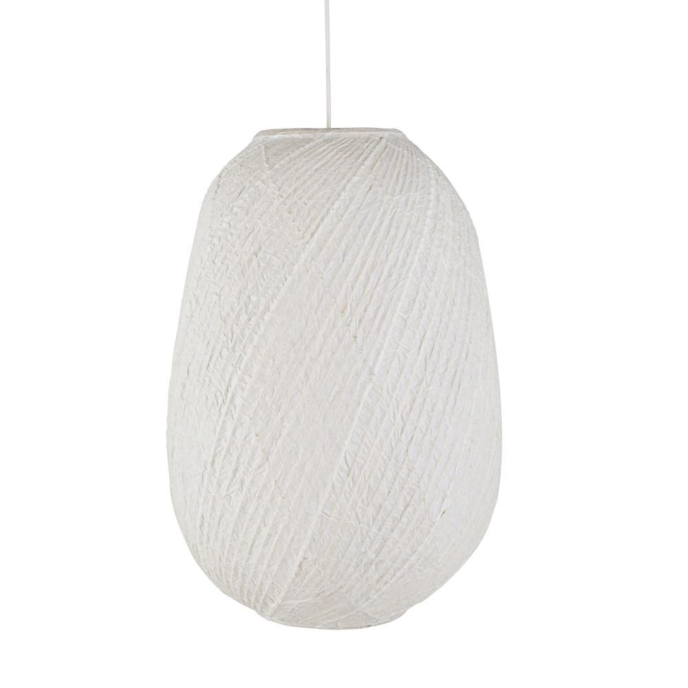 Suspension en bambou et papier de riz blancs