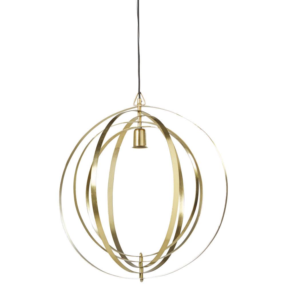 Suspension en métal doré cercles articulés