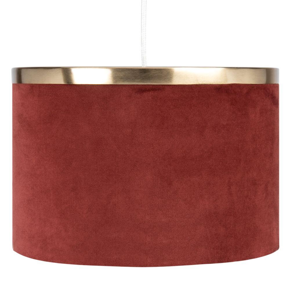 Suspension en velours rouge et métal doré D30