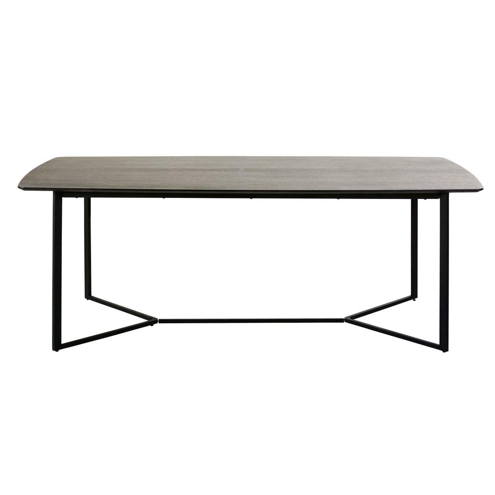Table à manger 6/8 personnes noire L210