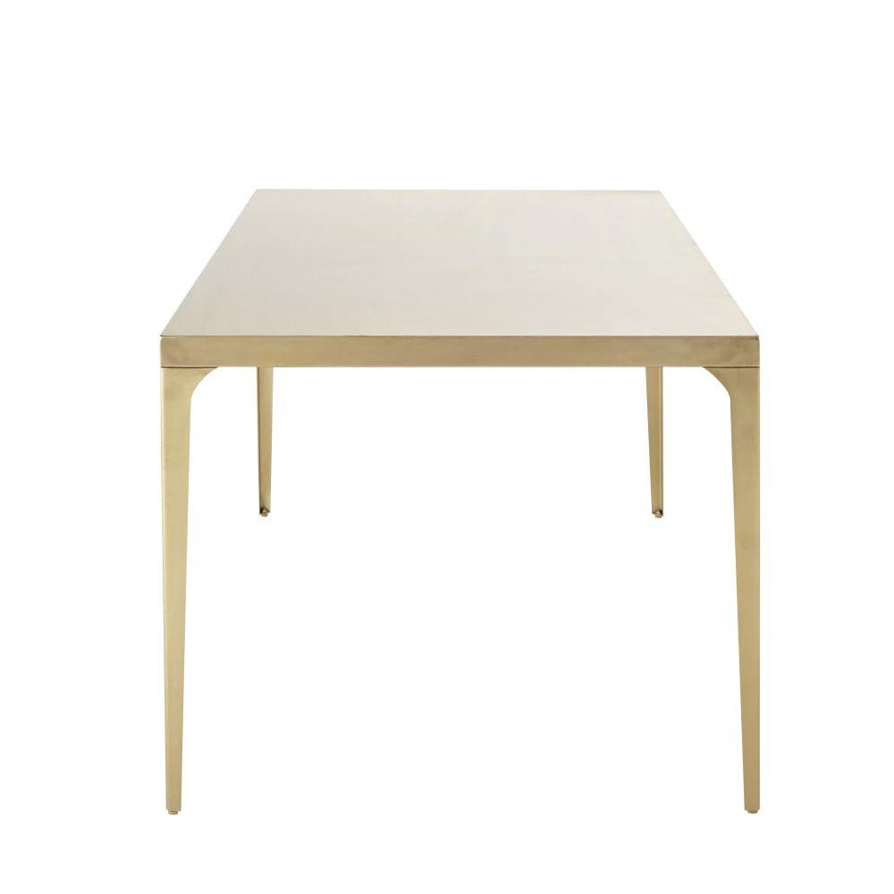 Table à manger en métal coloris laiton 6/8 personnes L160