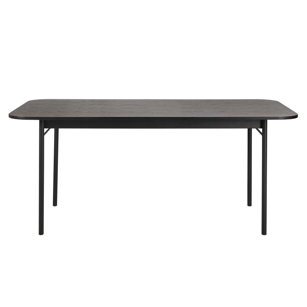 Table à manger noire 8 personnes L180