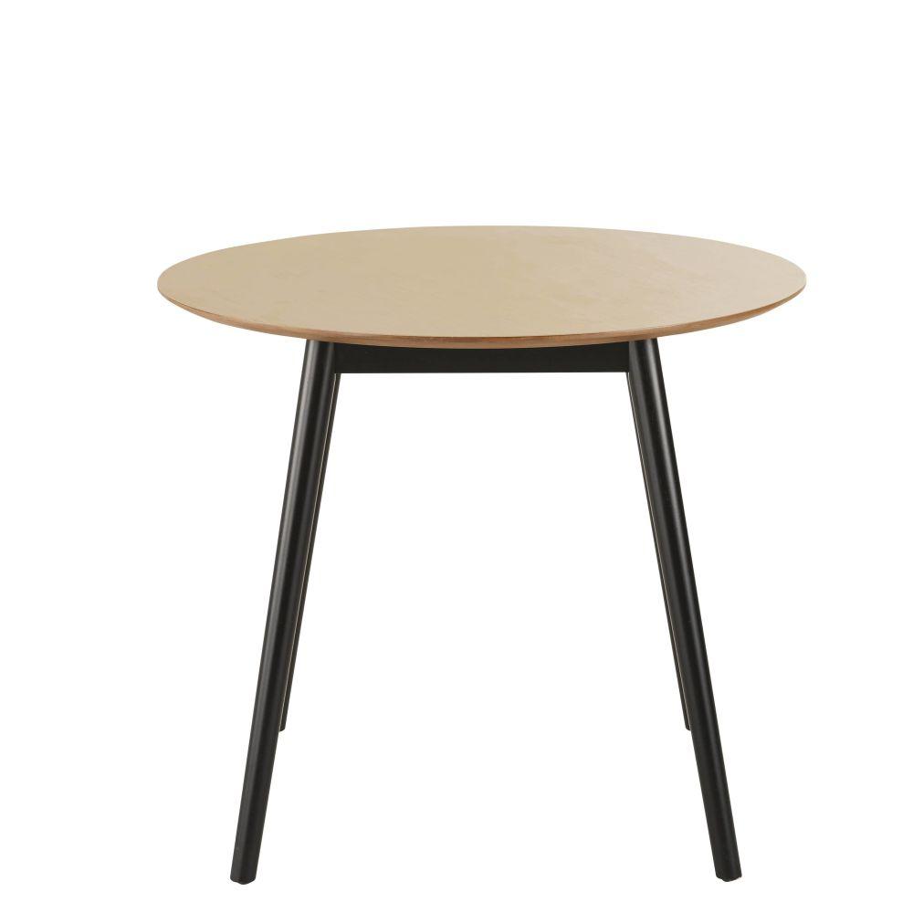 Table à manger ronde bicolore 4 personnes D90
