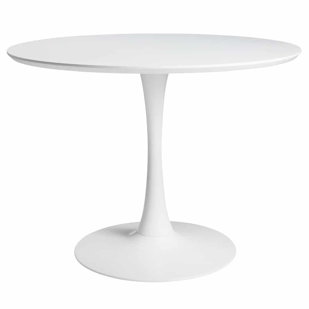 Table à manger ronde blanche 4/5 personnes D100
