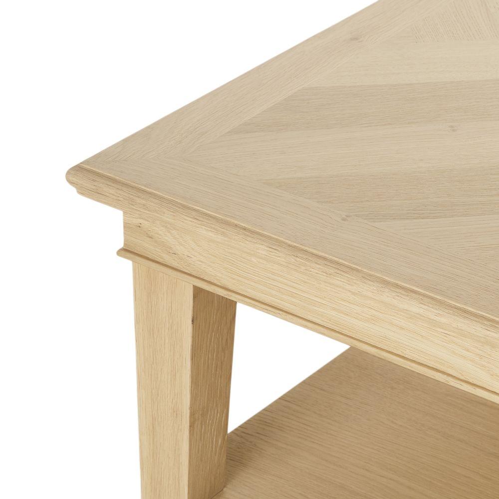 Table basse 2 plateaux à chevrons