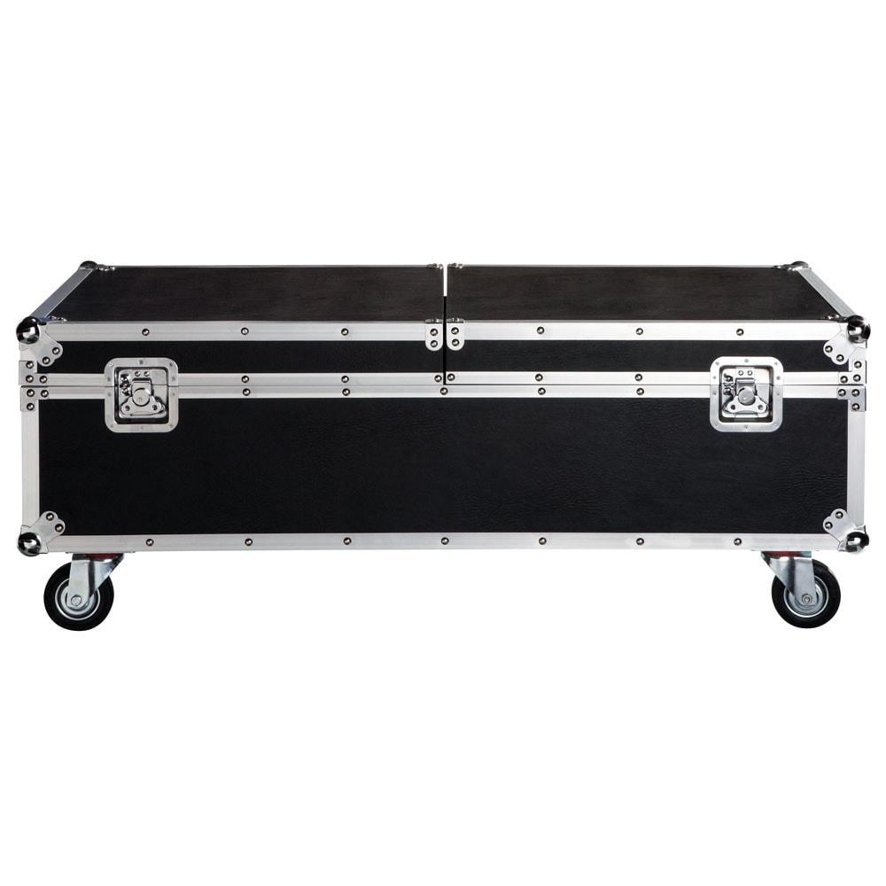 Table basse à roulettes noire L120