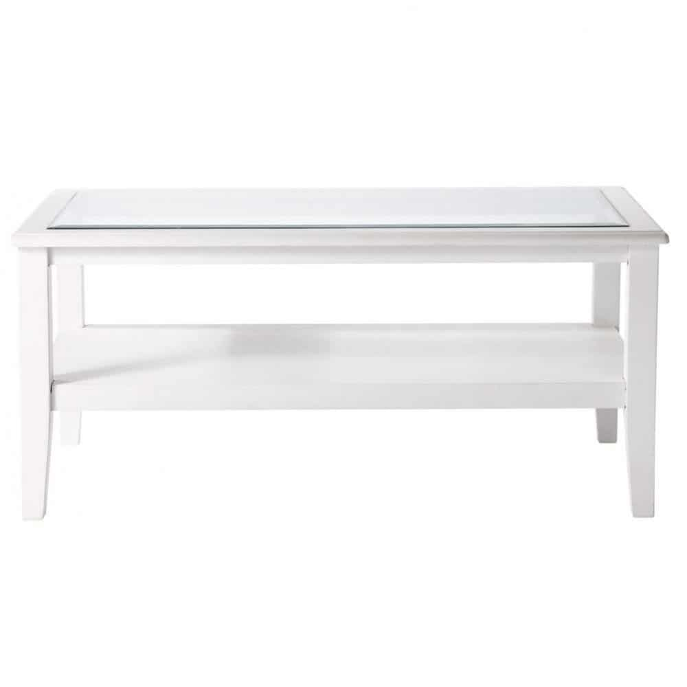 Table basse blanche L100