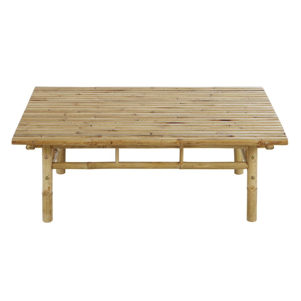 Table basse de jardin en bambou