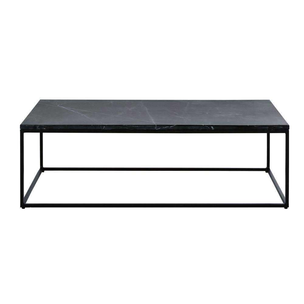 maison du monde Table basse en marbre noir et métal noir