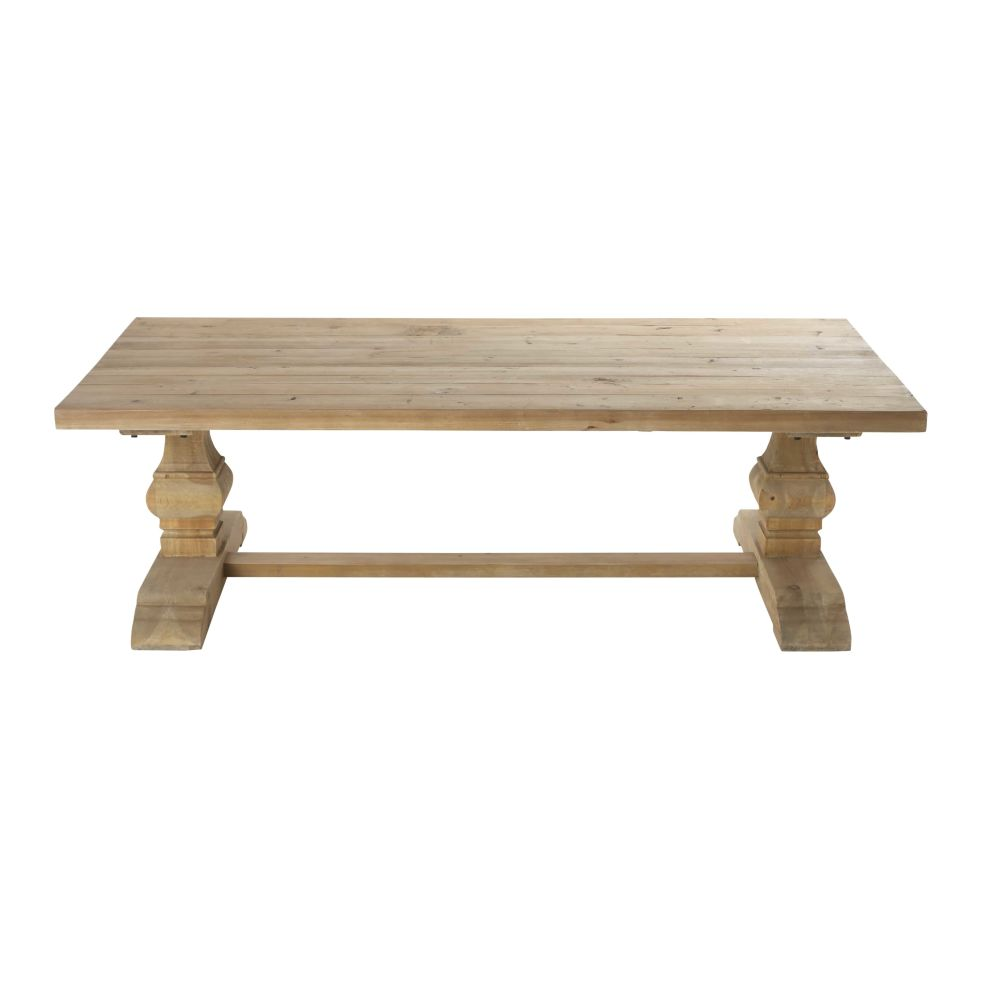 Table basse en pin effet vieilli