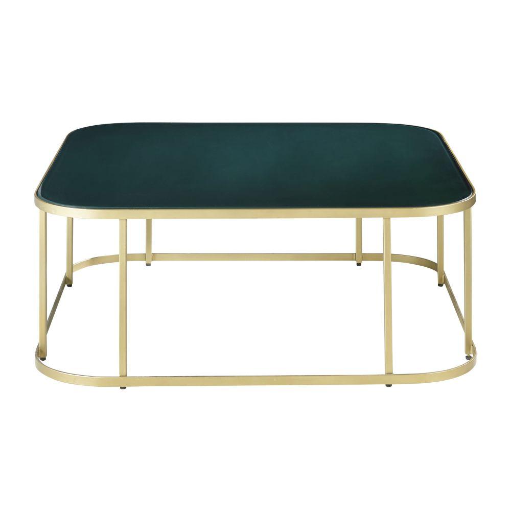Table basse en verre trempé vert