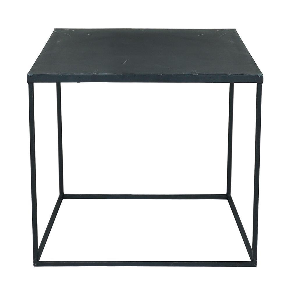 Table basse indus en métal noir