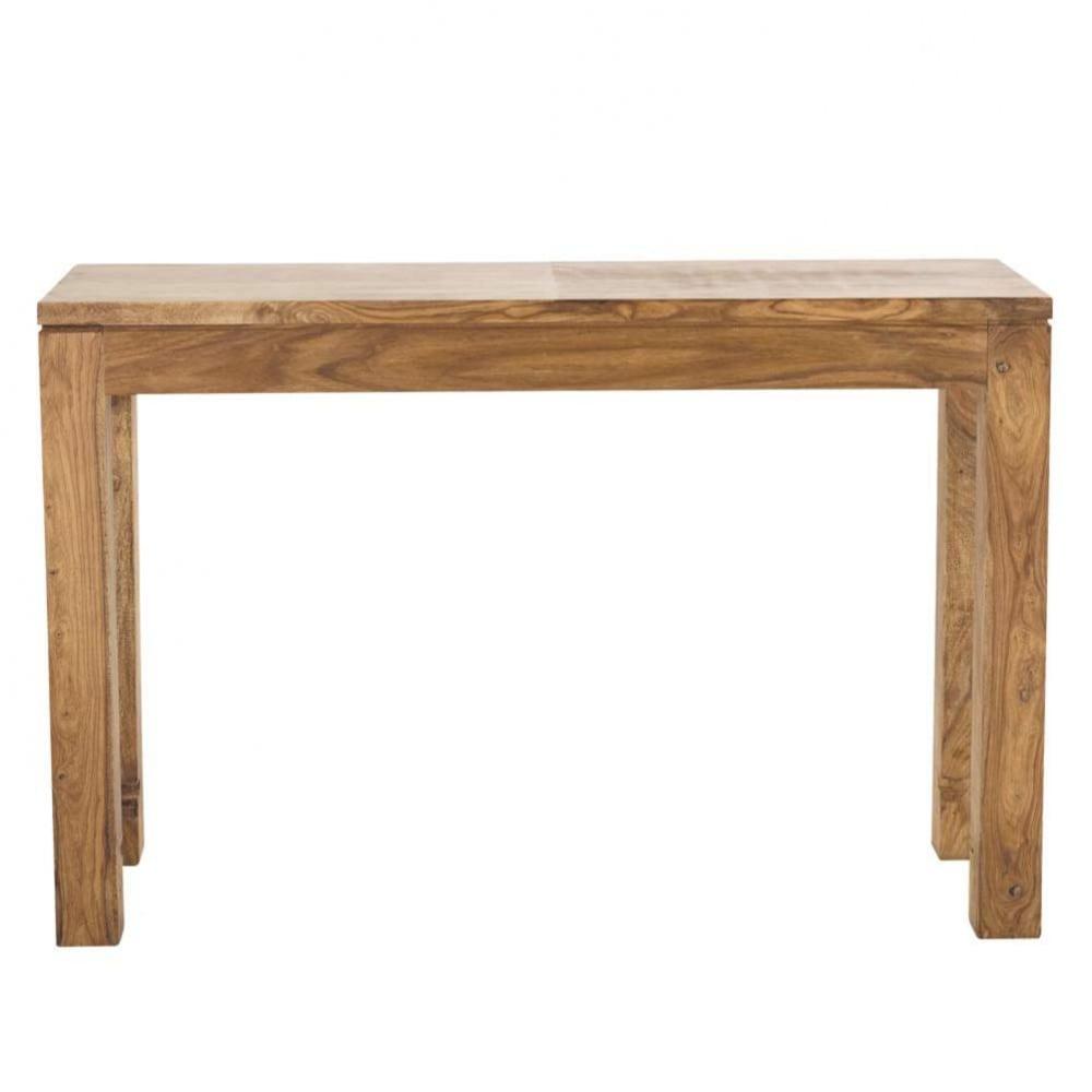 Table console en bois de sheesham massif L120