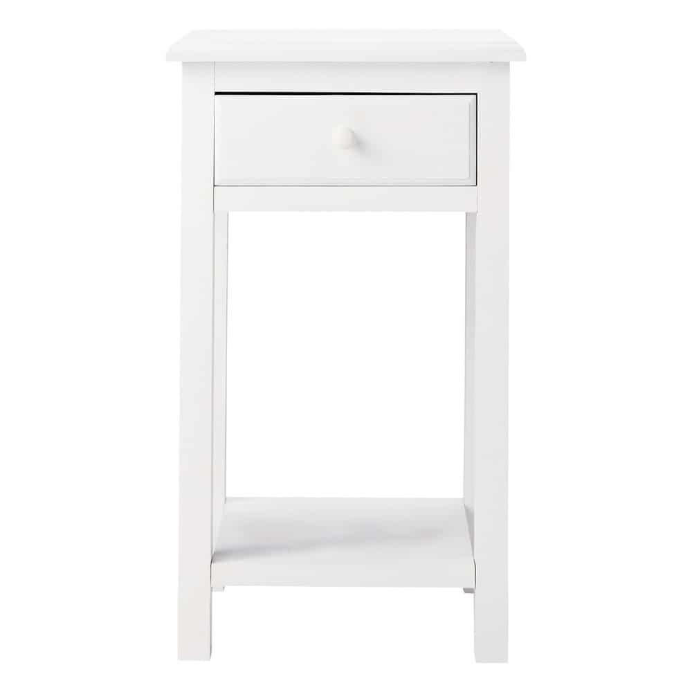 Table de chevet 1 tiroir blanche