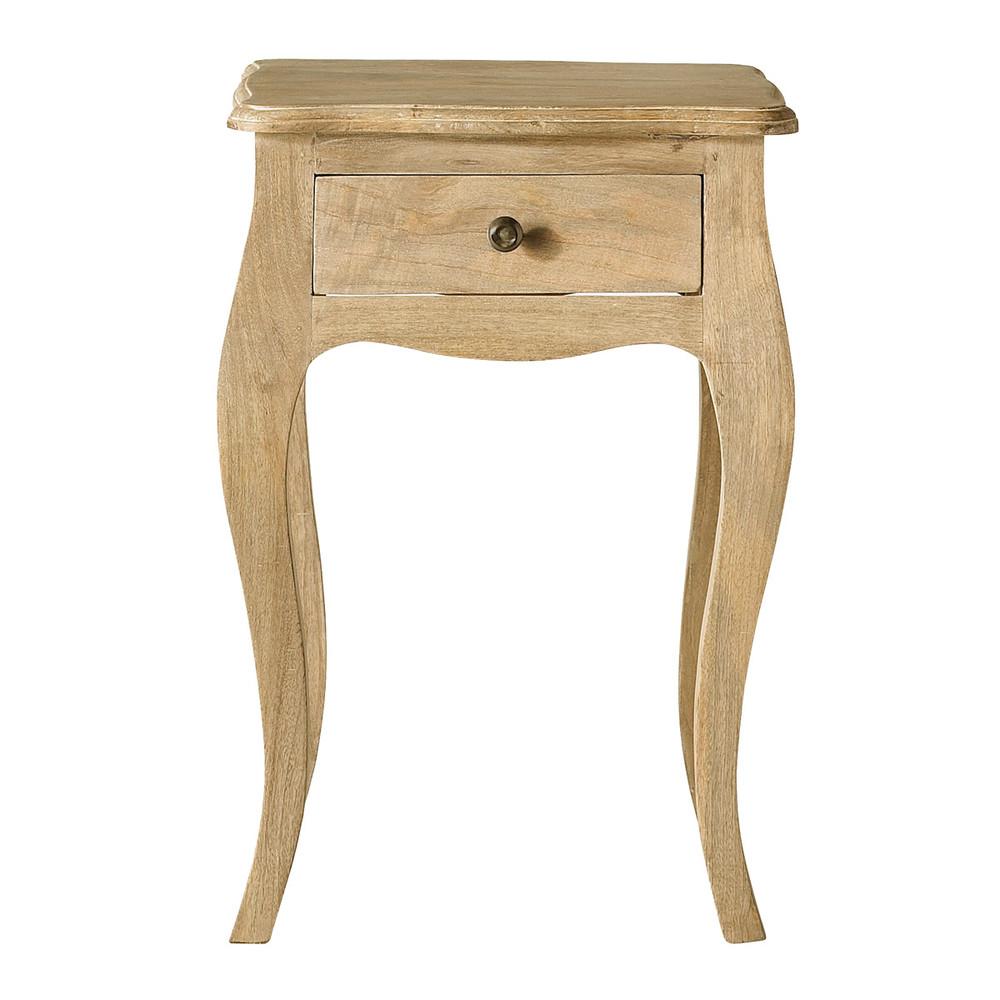Table de chevet 1 tiroir en manguier et acacia