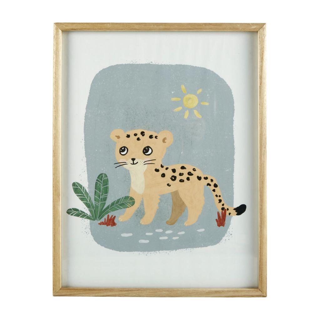 Tableau imprimé léopard multicolore 35x45