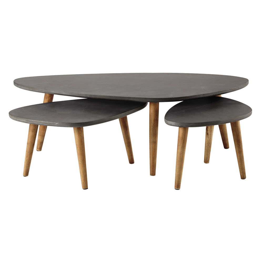 Tables gigognes grises