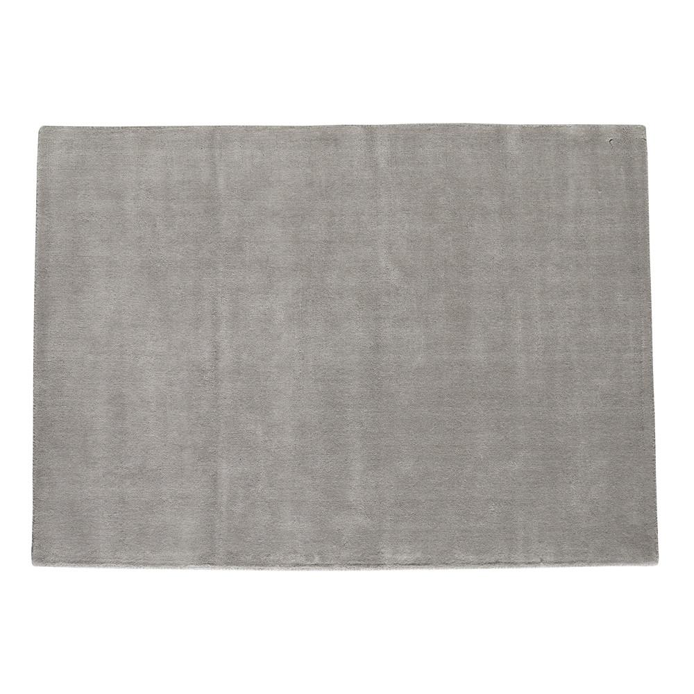 Tapis à poils courts en laine gris 160 x 230 cm