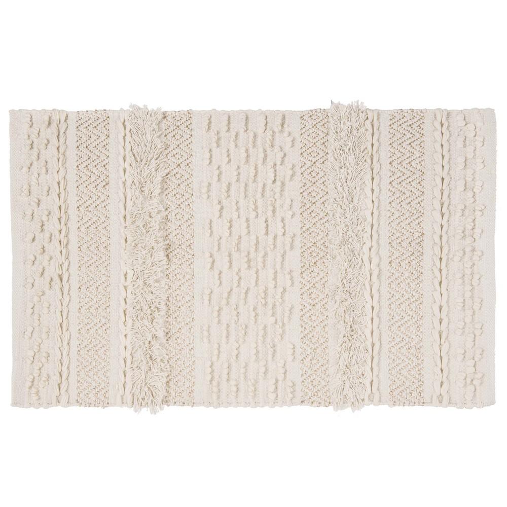 Tapis berbère en coton écru 60x90