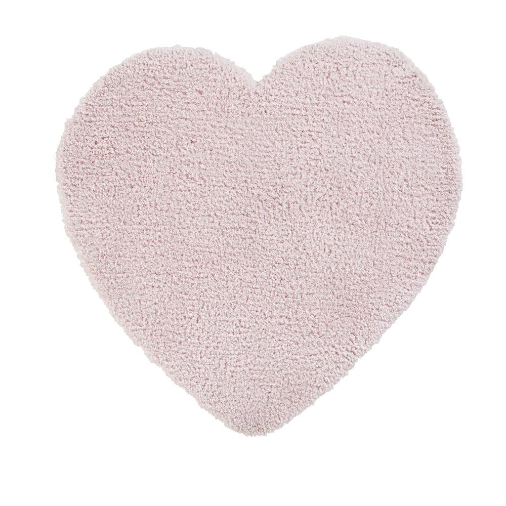 Tapis cœur rose