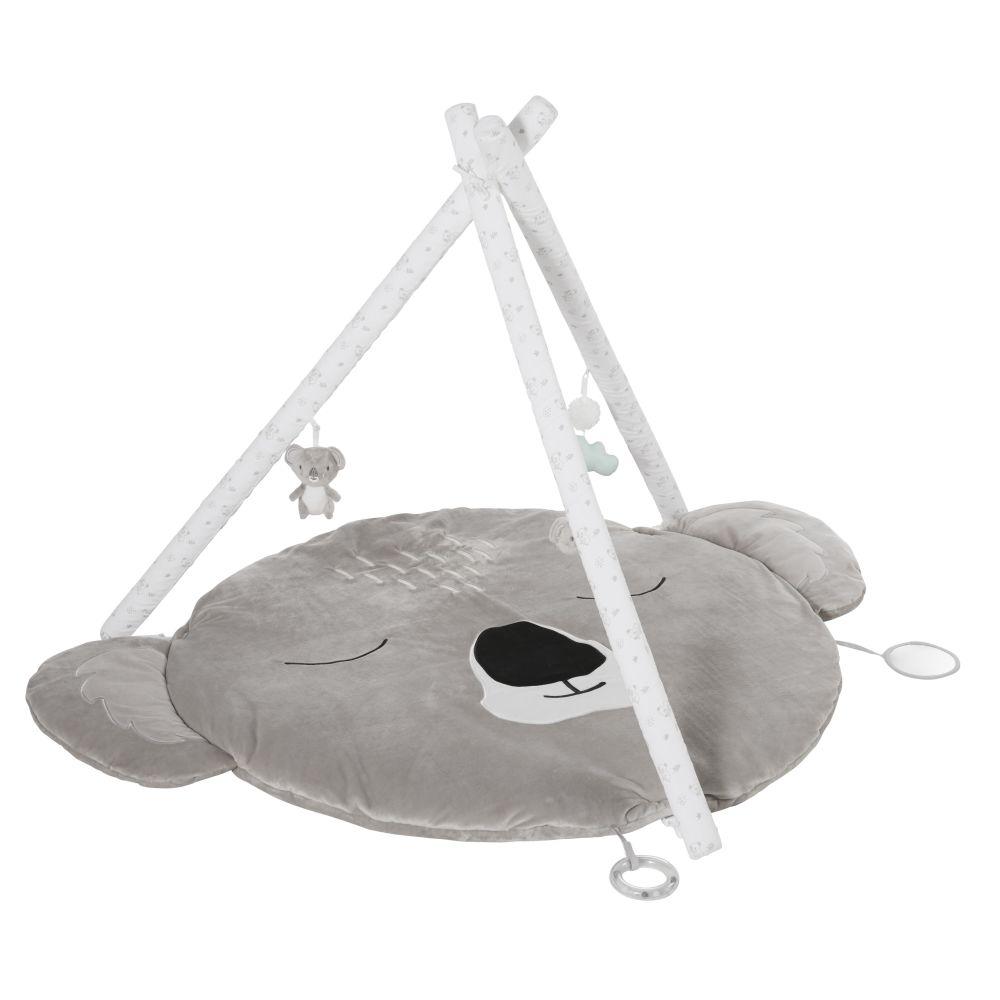 Tapis d'éveil bébé koala gris D90