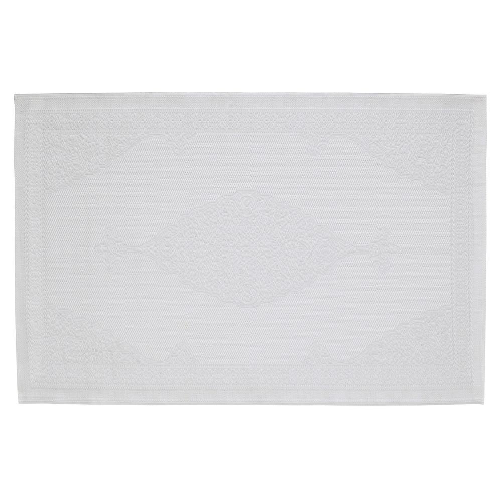 Tapis d'extérieur en polypropylène blanc 120x180
